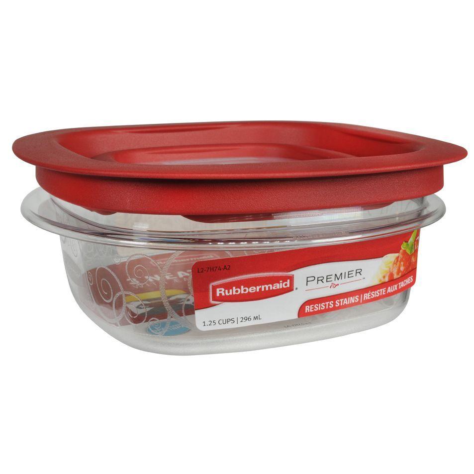 Rubbermaid 7H74TRCHILI 1-1/4 Cup Premier Food Storage Container (Premier Sqr 1.25  sc 1 st  Pinterest & Rubbermaid 7H74TRCHILI 1-1/4 Cup Premier Food Storage Container ...