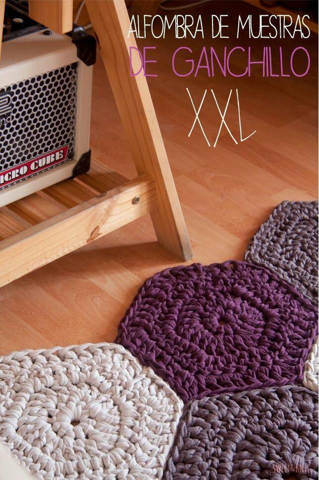 tapis au crochet tapis pinterest diy. Black Bedroom Furniture Sets. Home Design Ideas