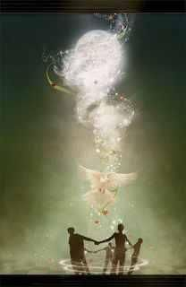 The holy spirit is the third person of the trinity of God the father. I am a Catholic and that has been my faith for as long as I've known.