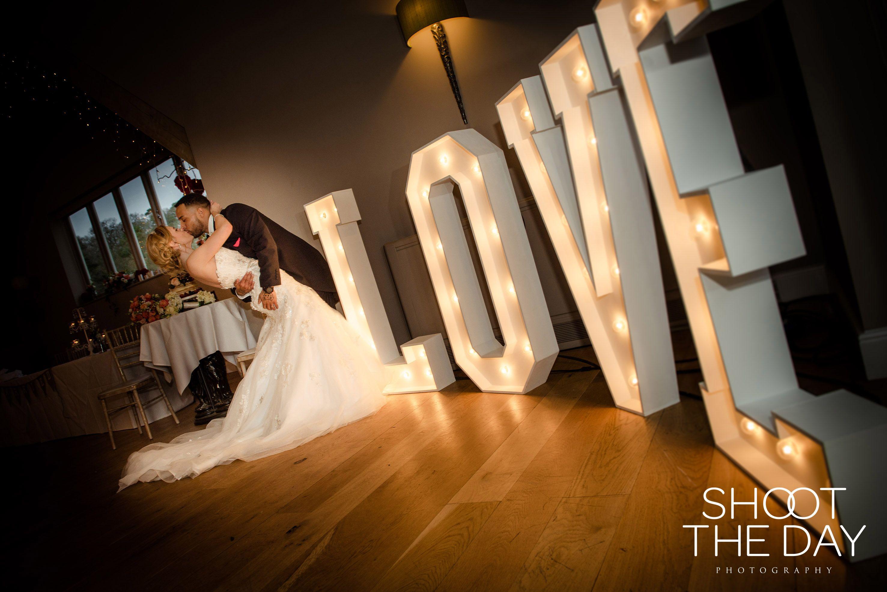 Illuminated Love Letter Lights Make For A Stunning Backdrop