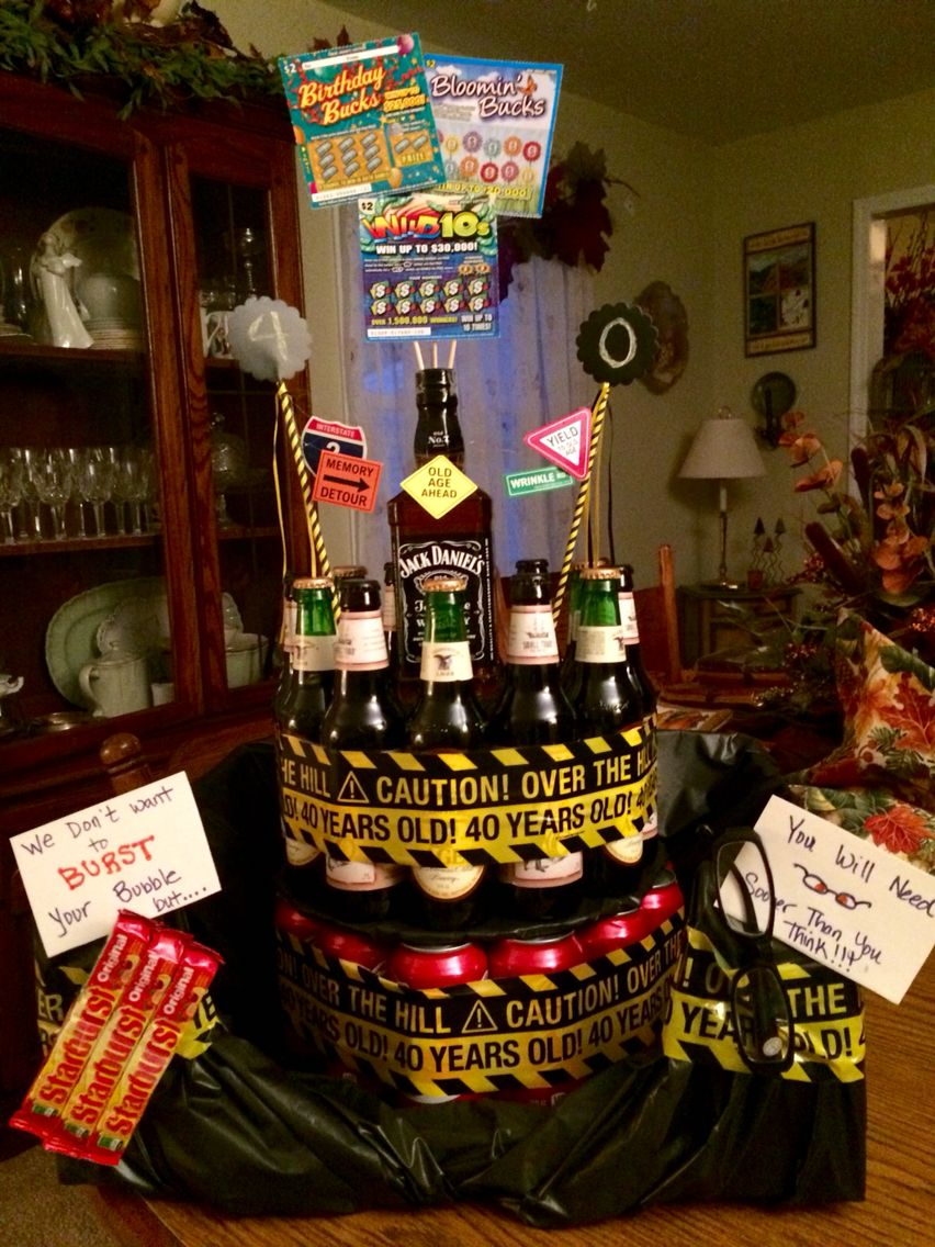 40th birthday adult cake i put coke cans on the bottom