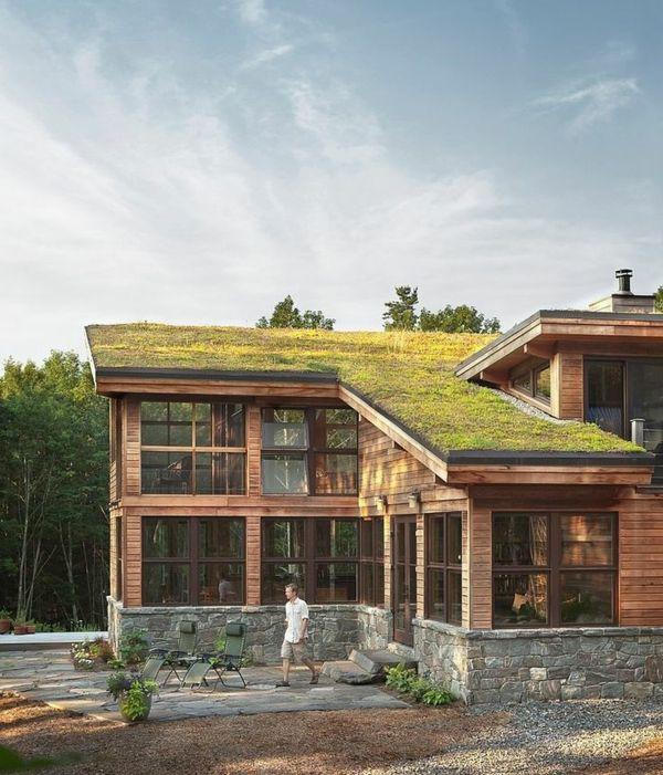 Le toit végétal en 77 photos Vegetal, Chalet et Toits verts - Cout Gros Oeuvre Maison