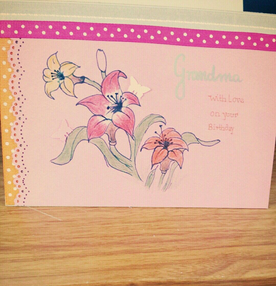 Grandma birthday card hand drawn cards pinterest hand drawn cards