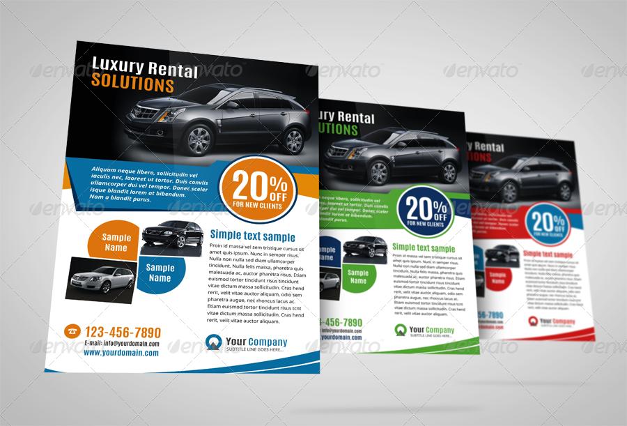 Luxury Car Sale Flyer Ad Design Template