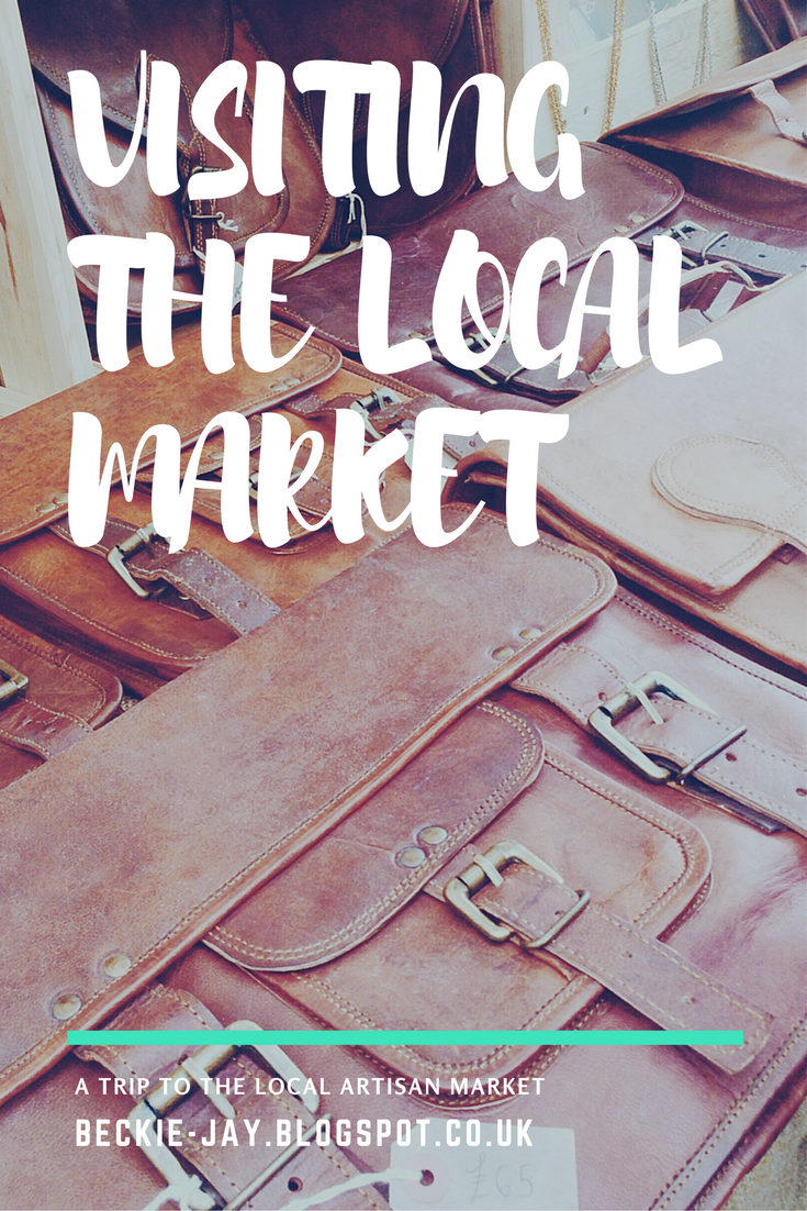 Visiting the Local Artisan Market October 2017. The