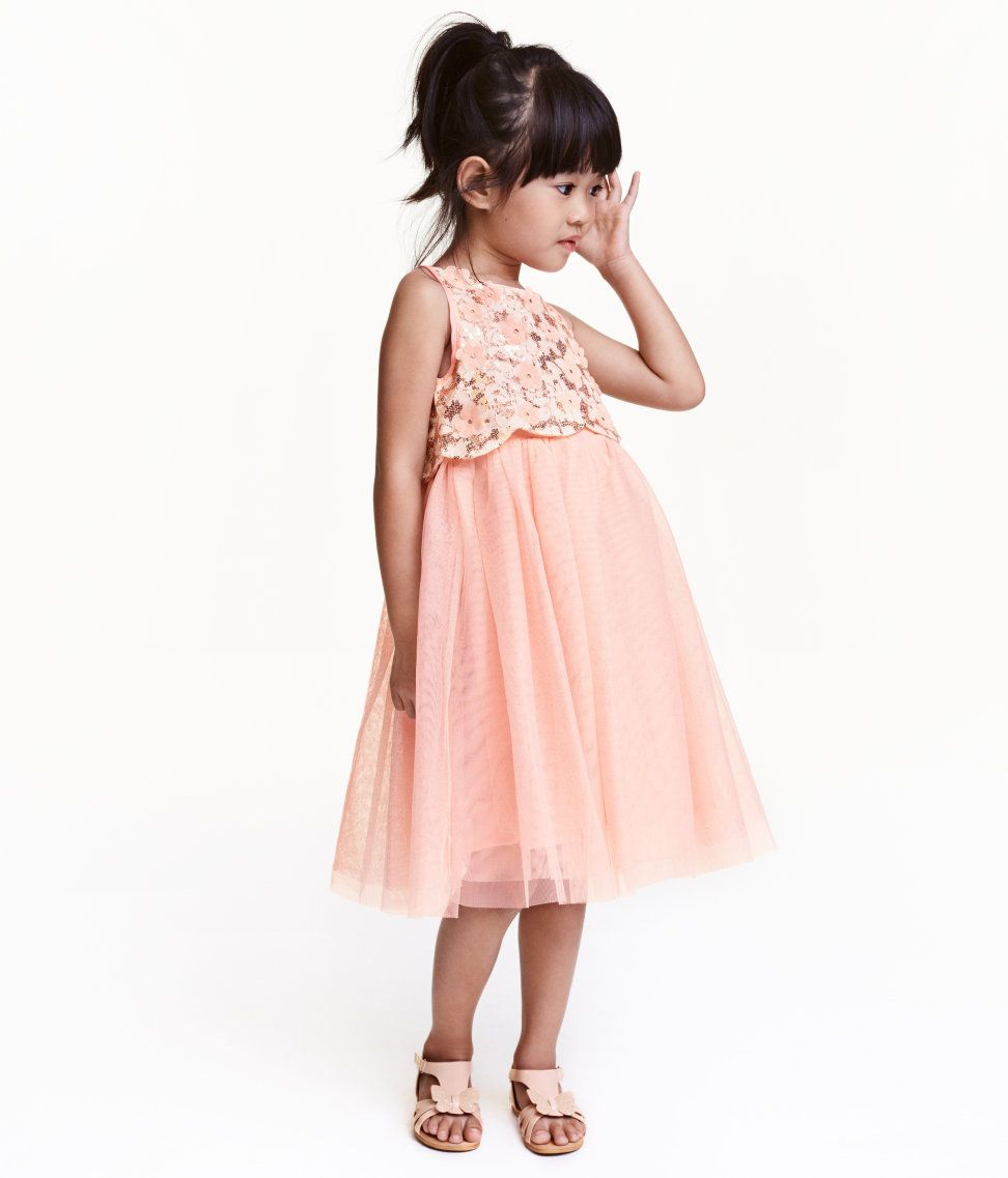 90848fcbc Sequined tulle dress | H&M Kids | H&M KIDS | Dresses, Flower girl ...