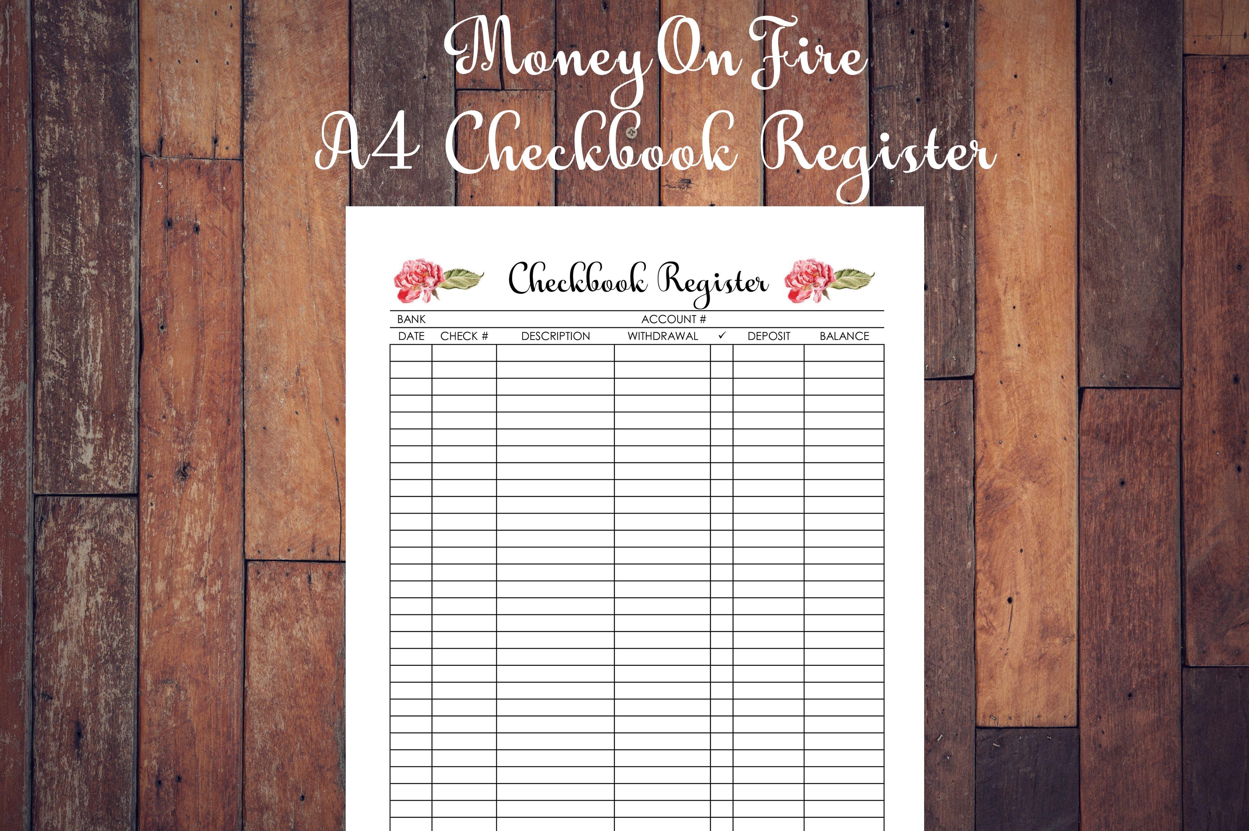checkbook register printable  etsyfind  etsyfinds