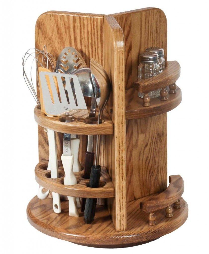 kitchen utensil lazy susan kitchen utensil holder wooden kitchen wood projects on kitchen organization lazy susan id=22983