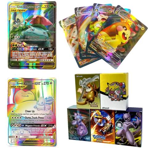 100 300pcs Vmax Gx Tag Team Shining Takara Tomy Pokemon Cards English Game Battle Carte 200pcs Trading Cards Game Children To Pokemon Cards Pokemon Pokemon Tcg