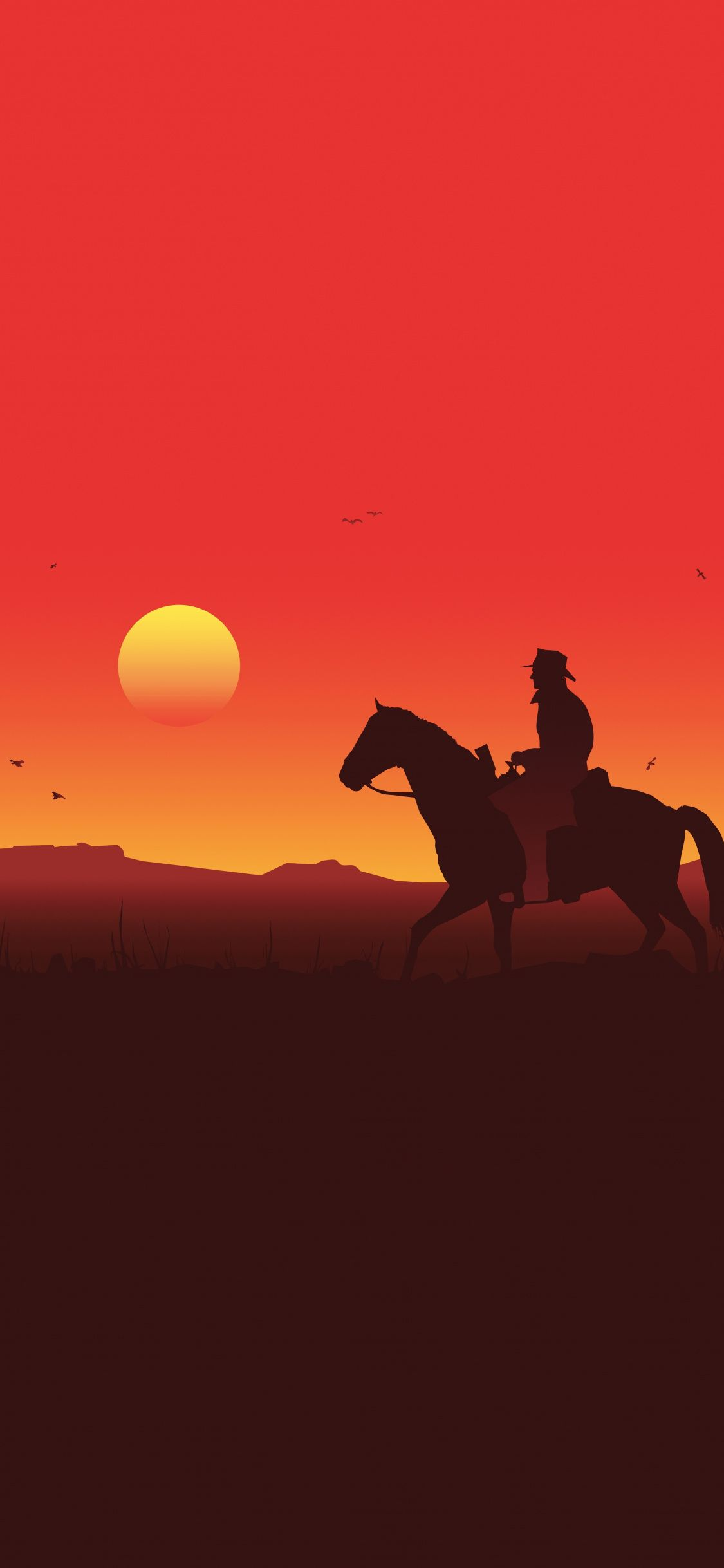 Silhouette Red Dead Redemption 2 Sunset 2018 1125x2436 Wallpaper Red Dead Redemption Artwork Red Dead Redemption Art Red Dead Redemption