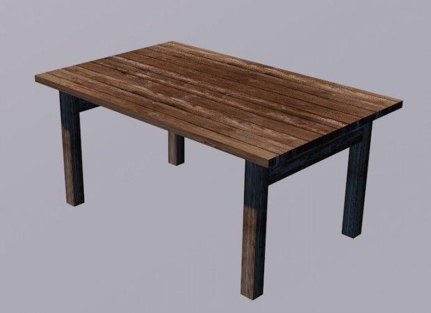 Table Free 3D Model .obj .c4d .fbx Free3D Office