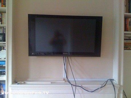 Hang A Tv On A Brick Or Concrete Wall Diy Living Gardenfork Tv Wall Mounted Tv Concrete Walls Diy Concrete Wall