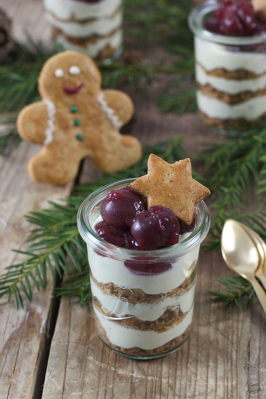 Lebkuchen Tiramisu im Glas als Weihnachtsdessert #trifledesserts