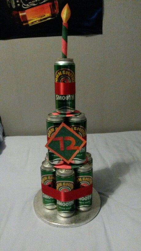 Birthday Cake Made Out Of Beer Cans How To Make Cake