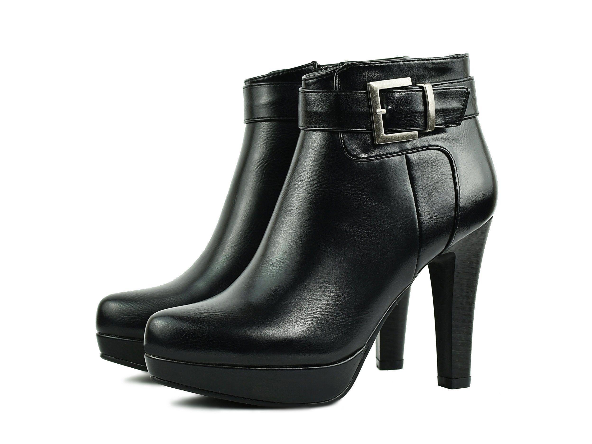 Jezzi Botki Szpilki Platforma Zamek Czarny Nowosc 6446035081 Oficjalne Archiwum Allegro Ankle Boot Boots Shoes