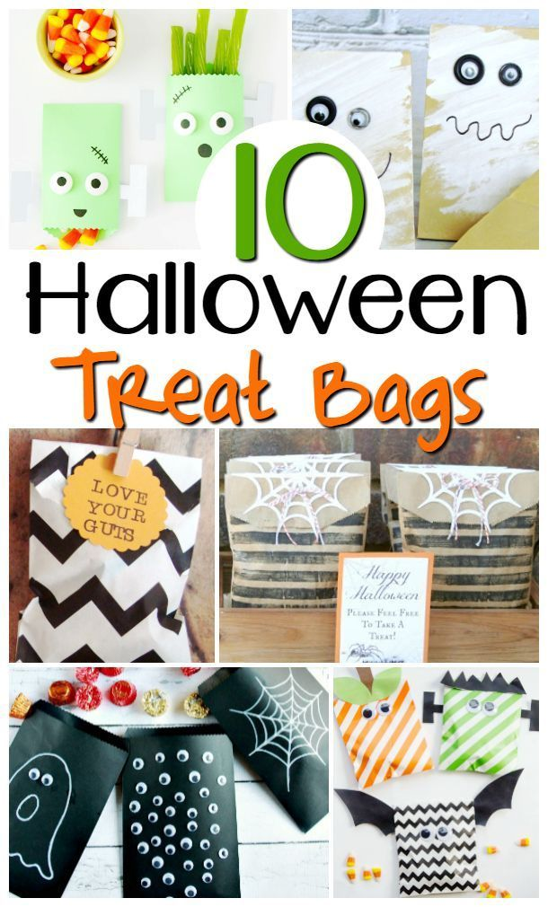 10 of the Best Halloween Treat Bags Diy halloween treat bags, Diy - halloween treat bag ideas