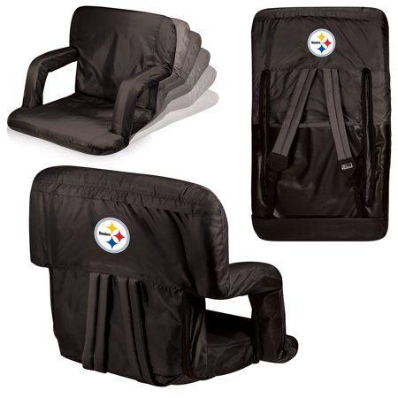 Pittsburgh Steelers Ventura Seat Portable Recliner Chair Black Walmart Com Pittsburgh Steelers Steelers Pittsburgh Steelers Stadium