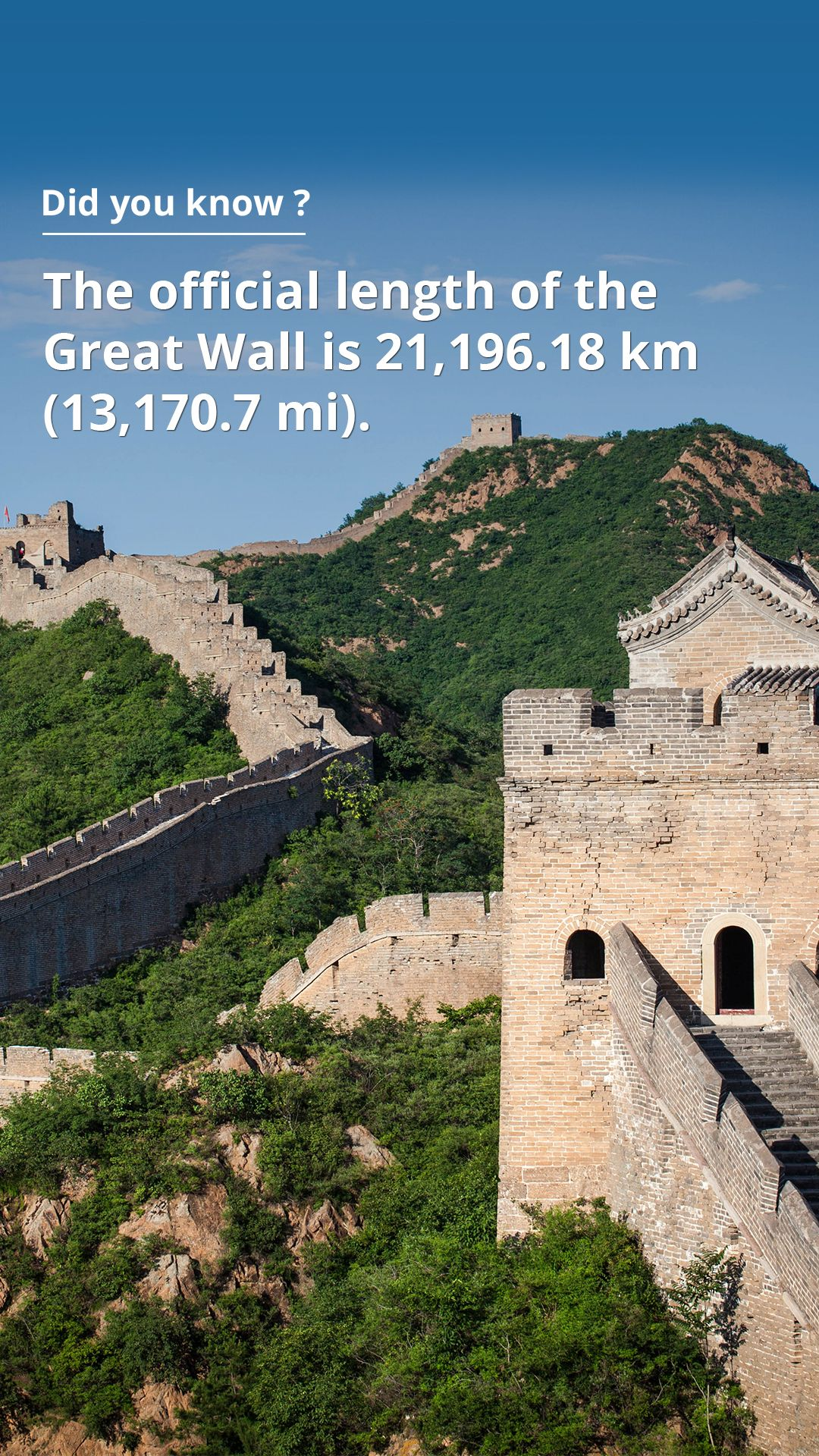 how long is the great wall of china 21 196 kilometers on great wall of china id=63543