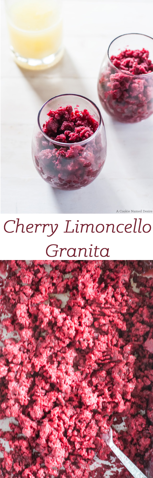 cherry limoncello granita Fruity desserts, Cherry