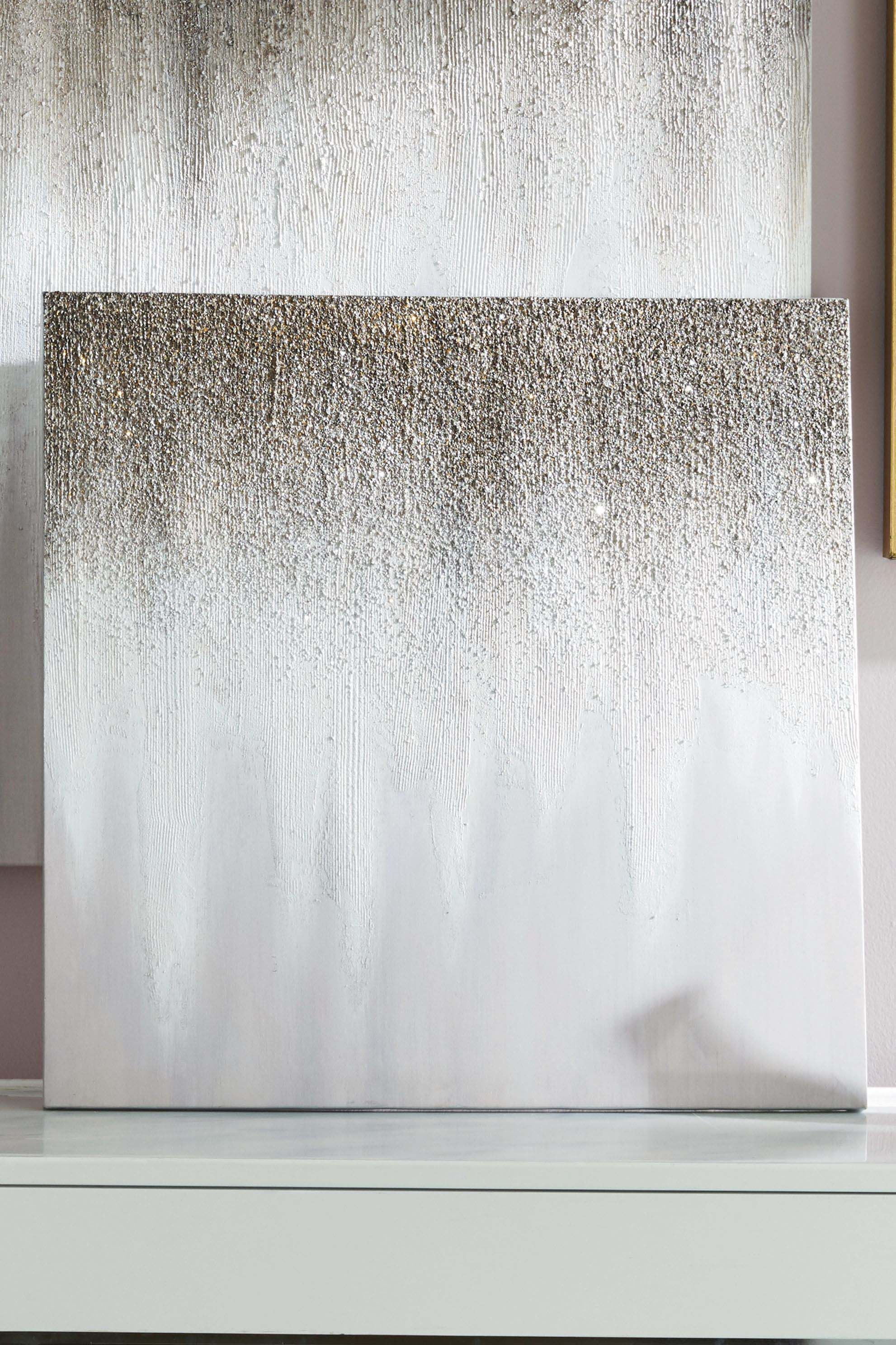 Next Gold Ombre Glitter Large Canvas