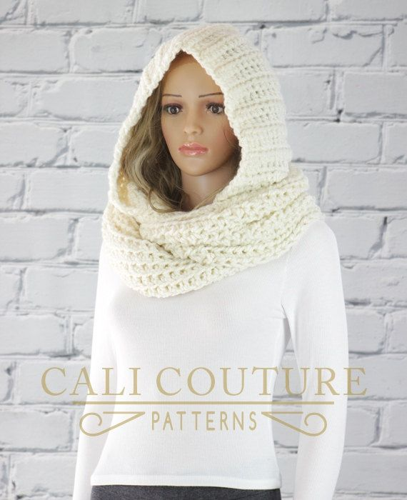 PDF PATTERN of how to make the Vancouver Hooded Infinity Scarf. NOT ...