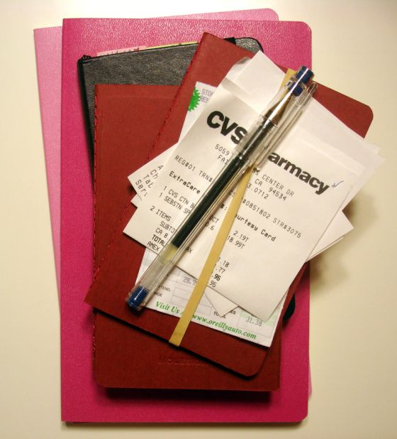 Moleskin Expense Log