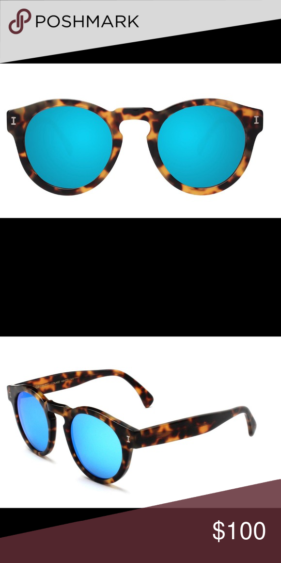 01ac2dbde2d Illesteva Leonard Sunglasses Tortoise With Sky Blue mirrored lenses. Illesteva  Accessories Sunglasses