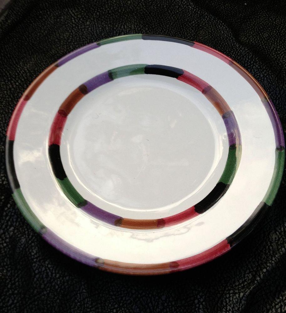 1 Dinner Plate 1 Salad Plate Circo Pattern By Deruta Italy B Goldsmith Design Pottery Art Italian Art Pottery