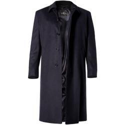 Schneiders Herren Mantel Coat, Schurwolle-Kaschmir, dunkelblau Schneiders