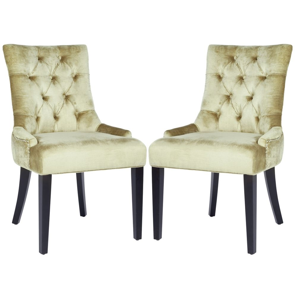 Safavieh Marseille Nail Head Bronze Velvet Dining Chairs Set Of 2