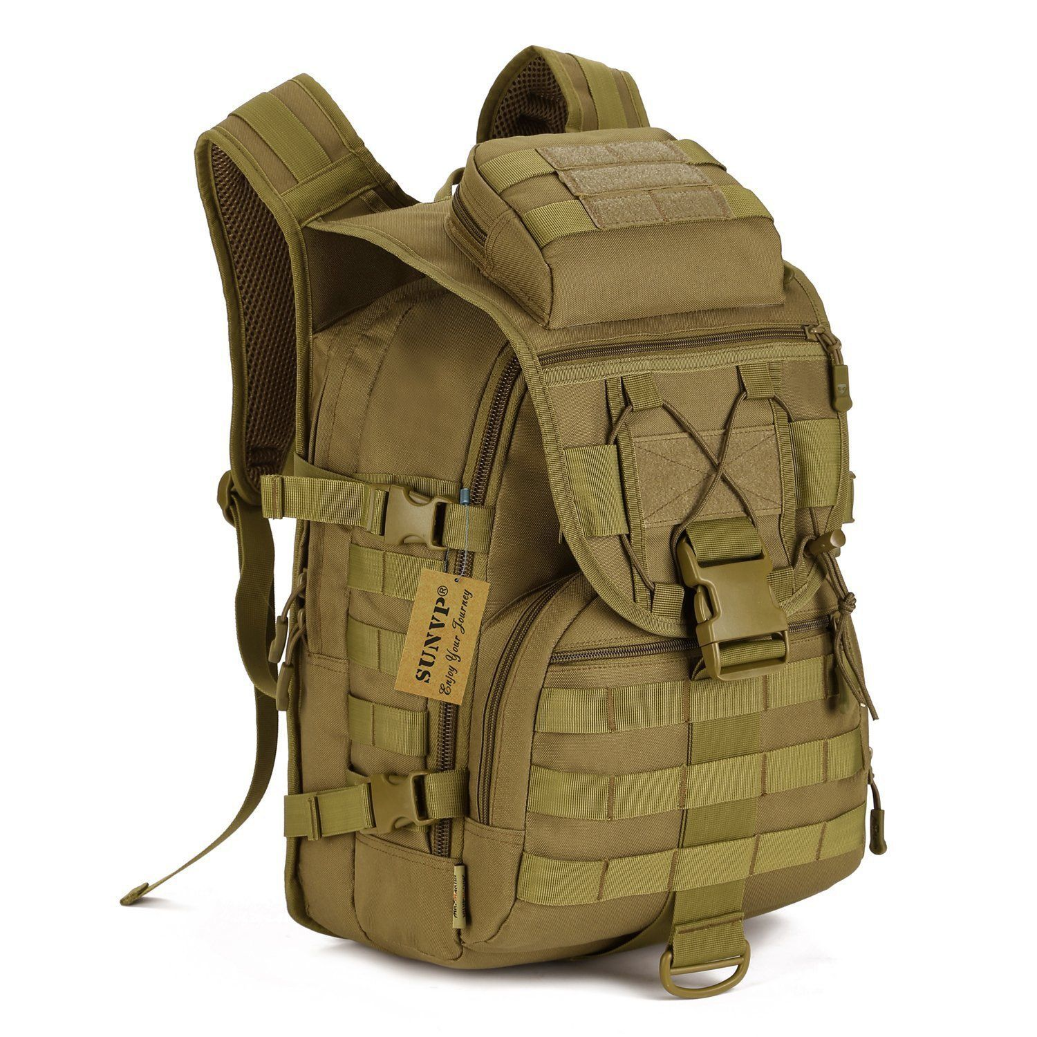 Protector Plus Tactical MOLLE Assault Backpack Pack Military Gear ...
