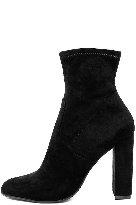 0f893ae952d Steve Madden Edit Black Suede High Heel Mid-Calf Boots   Shoes ...