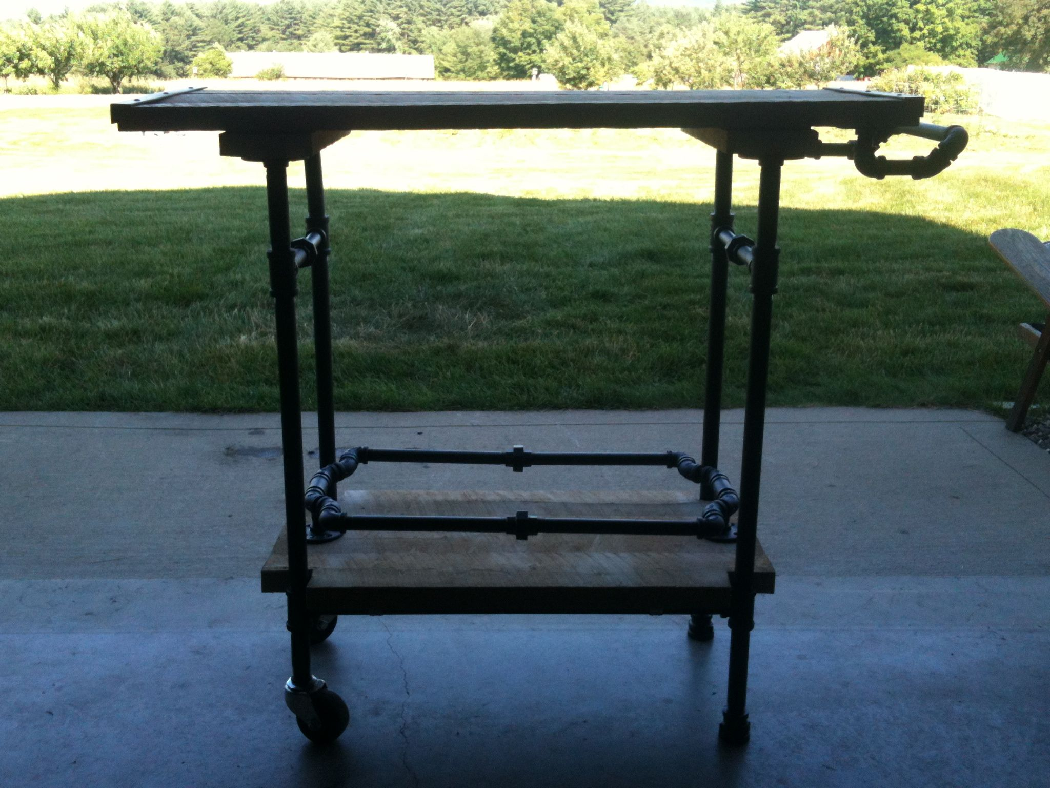 Grill Cart Black Pipe Furniture Pinterest Pipe Furniture Iron Pipe And Pipes