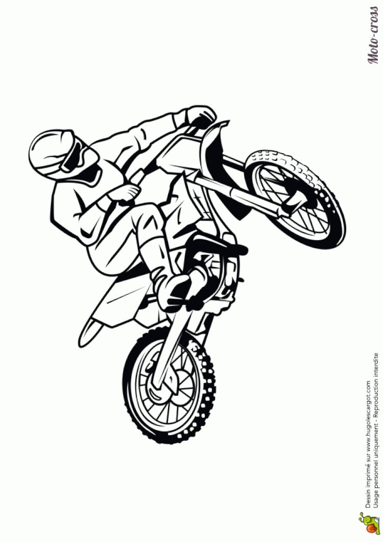 Coloriage Moto Cross A Imprimer Bike Drawing Motorbike Art