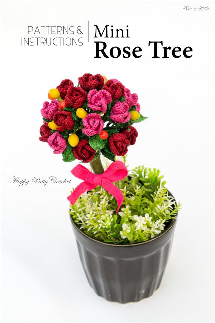 Free Crochet Flower pattern for a easy small rose by Happy Patty ...