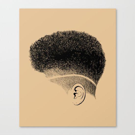 Fine Art Print On Bright White Fine Poly Cotton Blend Matte Canvas Using Latest Generation Epson Archival Inks Natural Hair Styles Hair Art Hair Illustration