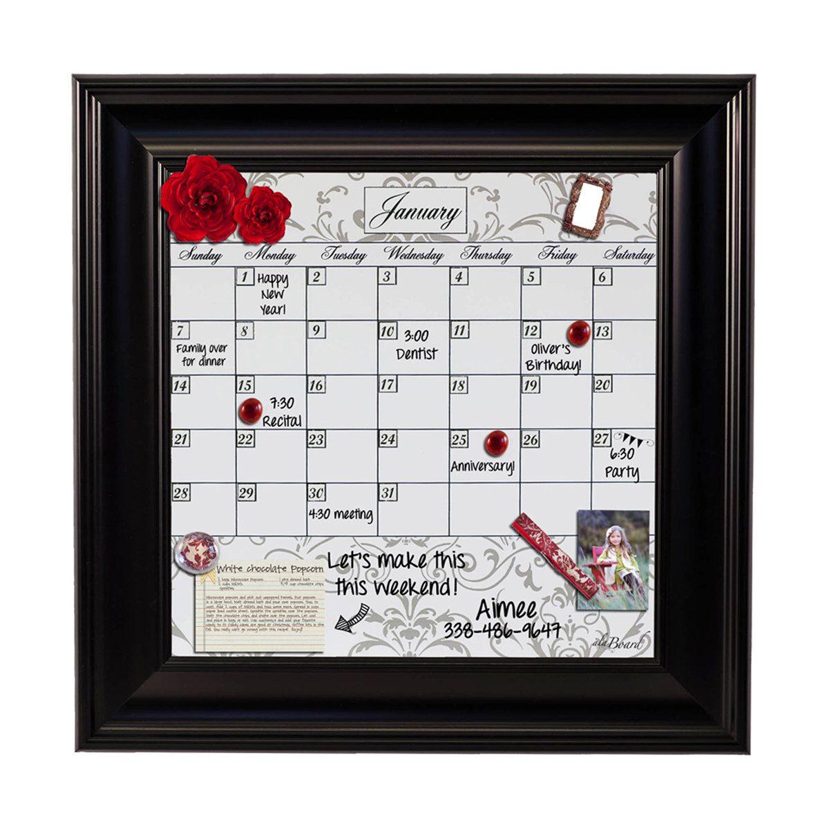 Framed Whiteboard Calendar, Framed Dry Erase Calendar by Alaboard on ...