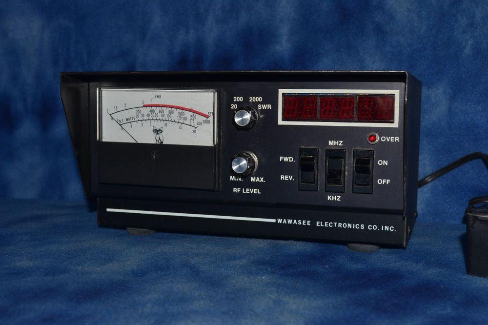 Wawasee Black Cat JB 1002 FC/M Watt & SWR Meter Frequency counter