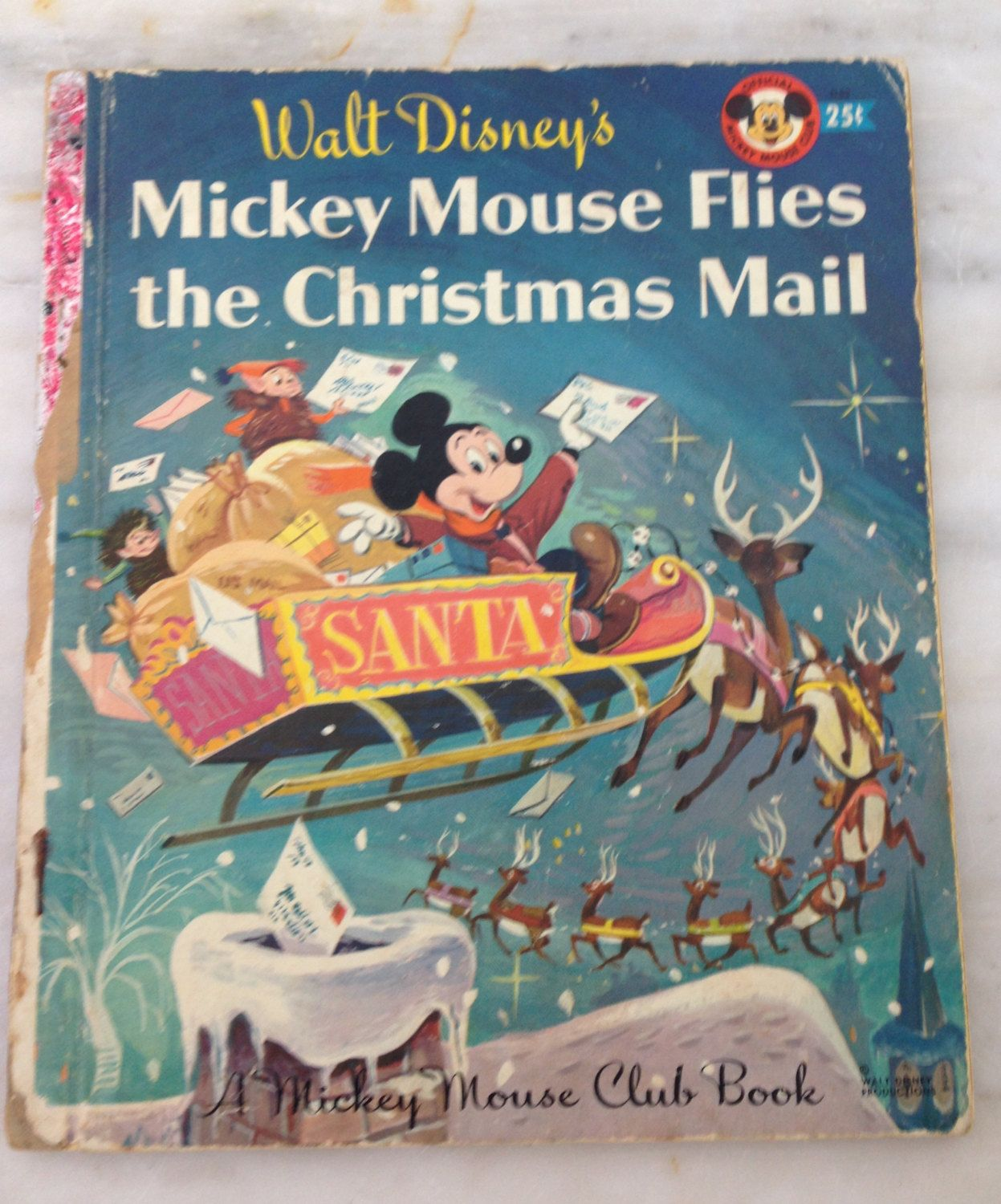 vintage Mickey Mouse Club Book Mickey Mouse Flies the Christmas Mail Walt  Disney 1956A edition by MotherMuse on Etsy