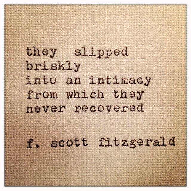 F Scott Fitzgerald Love Quote Delectable Fscott Fitzgerald Framed Love Quote Made On Typewriter$10.00