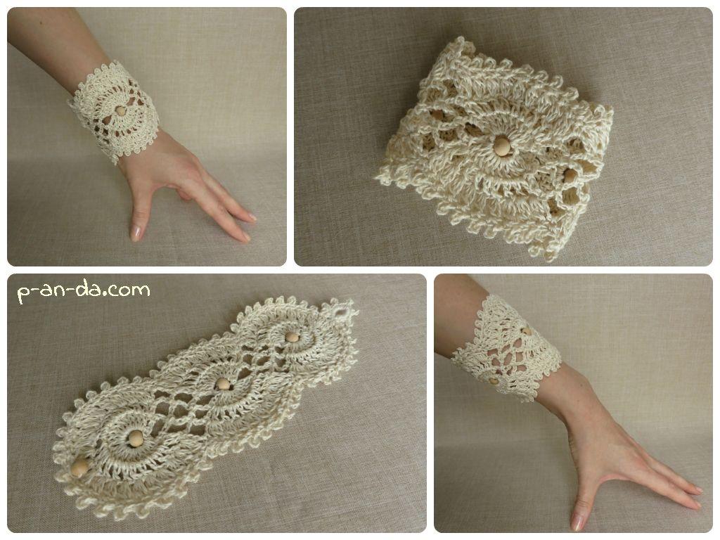 Оригинальные браслеты из вязаных салфеток своими руками