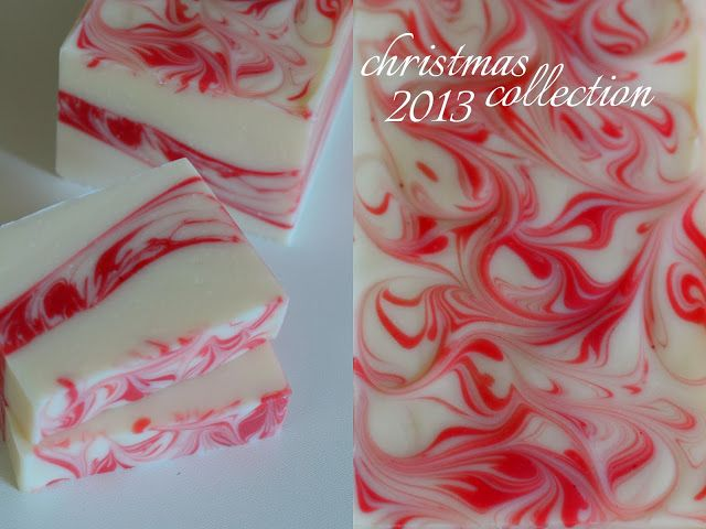 Nice way to do peppermint soap for Christmas