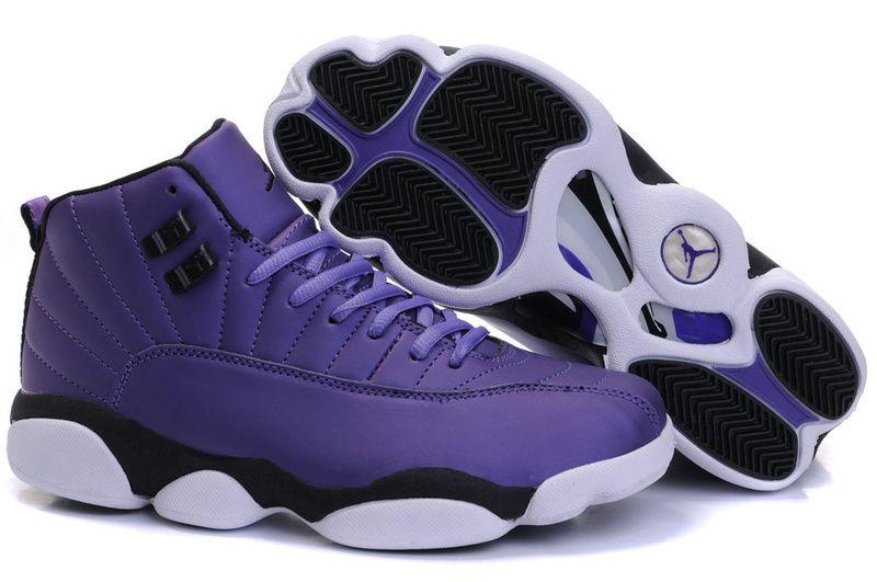 women jordan shoes | Cheap Womens Nike Air Jordan 12 13 Purple ...