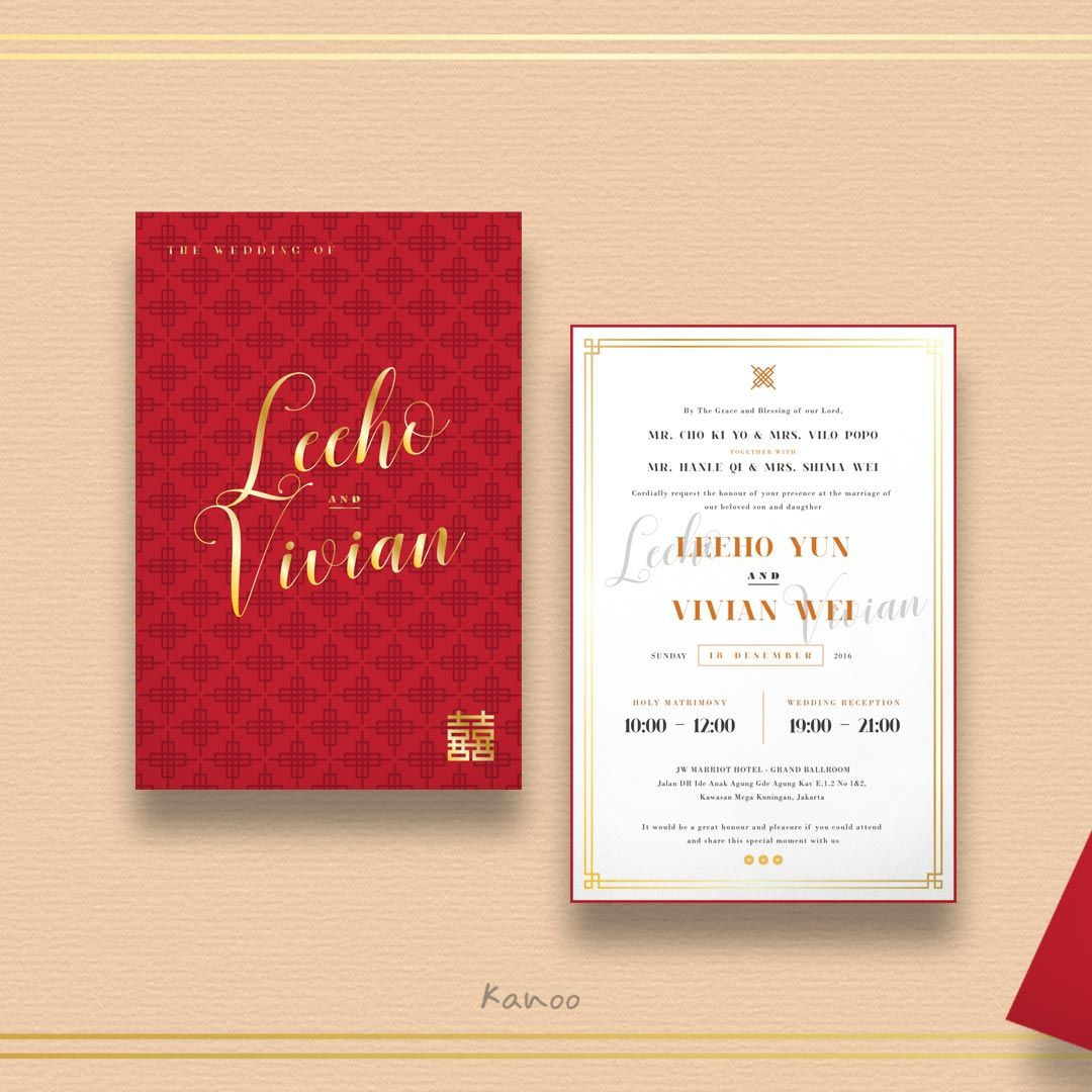 Pin by Kanoo Paper and Gift on Romance Wedding Invitation in Red by ...