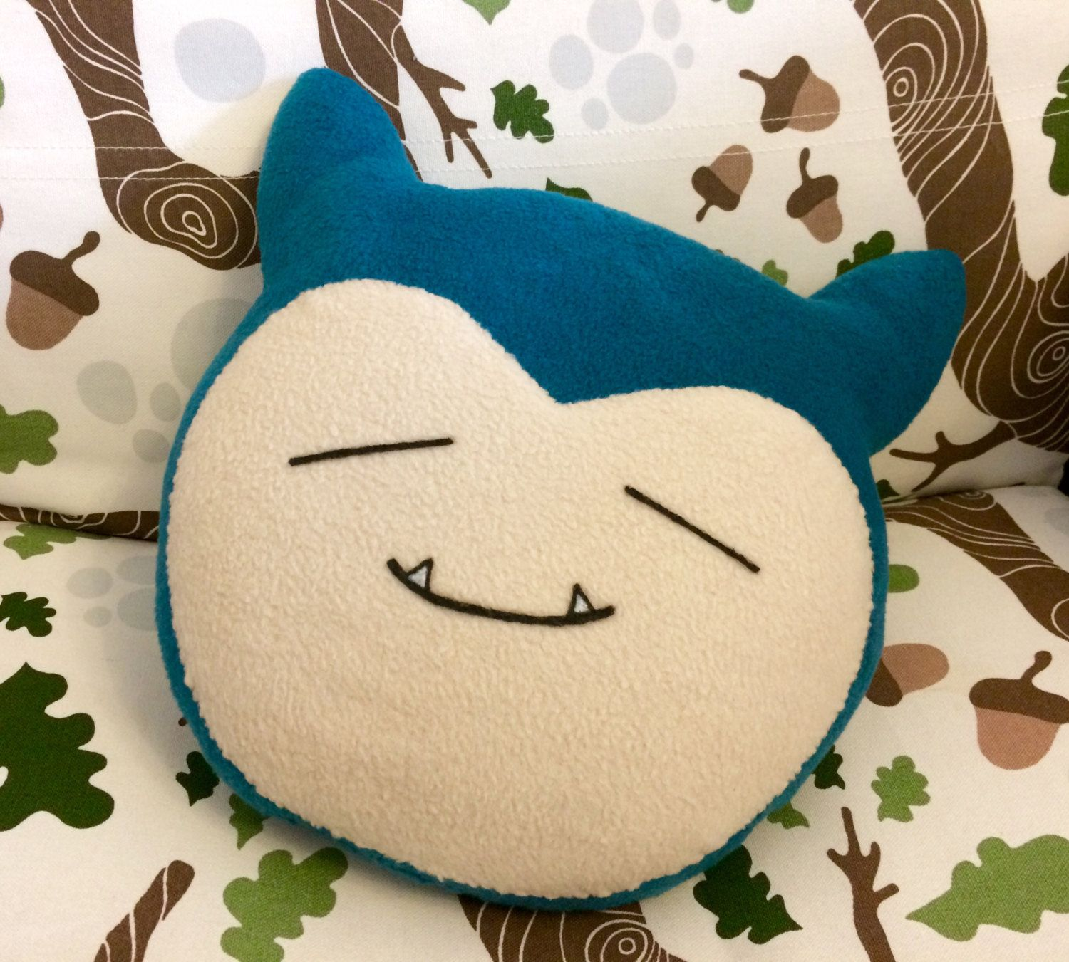 Snorlax face pillow