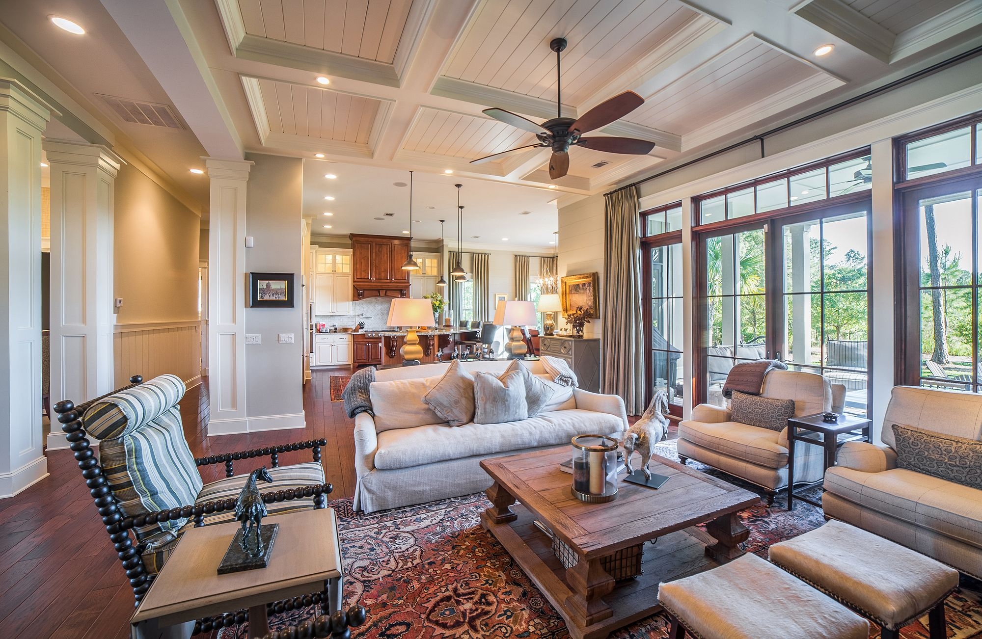 Open Concept Great Room | Living Room Open To Kitchen | Southern Style |  Lowcountry Living