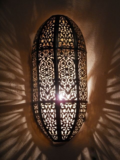 d coration orientale appliques luminaires applique murale marocaine en laiton idees deco. Black Bedroom Furniture Sets. Home Design Ideas