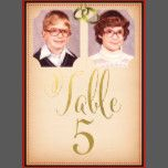 DIY Old School Photos Wedding Table Number Cards