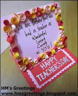 Happy Teachers Day Card 1 With Images Happy Teachers Day