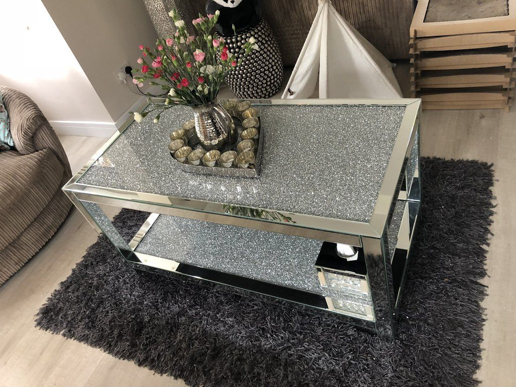 House Of Sparkles Diamond Crush 2 Tier Coffee Table Hos Home Glamorous Furniture Mirrored Coffee Tables Coffee Table [ 768 x 1024 Pixel ]